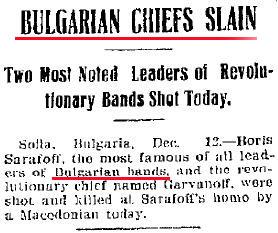 Sarafov Waterloo Daily Courier Boris Sarafov   The Bulgarian Revolutionary