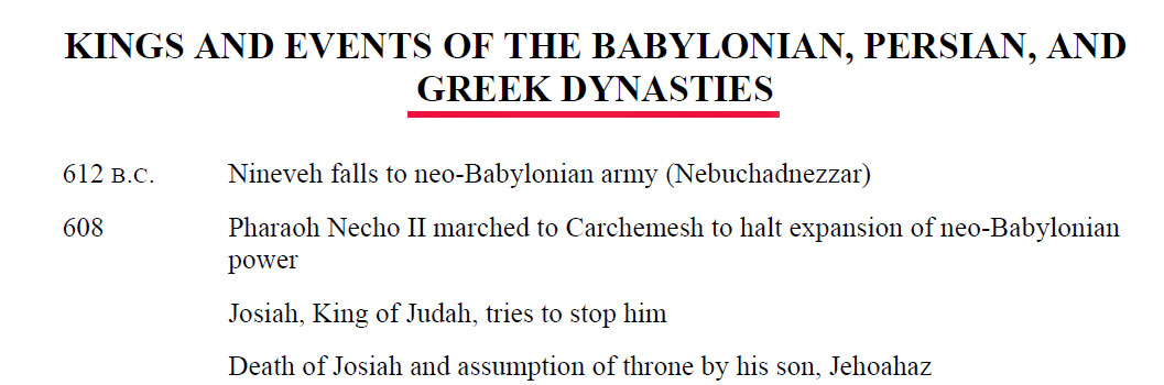 bible greekdynasties2 Kings and Events of the Babylonian, Persian and Greek Dynasties