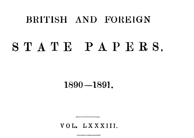 british British Foreign State Papers 1890 1891   The Bulgarians of Macedonia