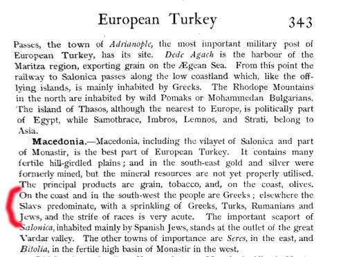 europeanturkey2 1920   International Geography about Macedonias population and ethnic Macedonians nowhere to be found