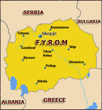 Former Yugoslav Republic of Macedonia Map