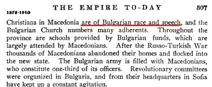 historyofnations2 1913   The History of Nations: The majority of Macedonian Slavs are of Bulgarian Race and Speech
