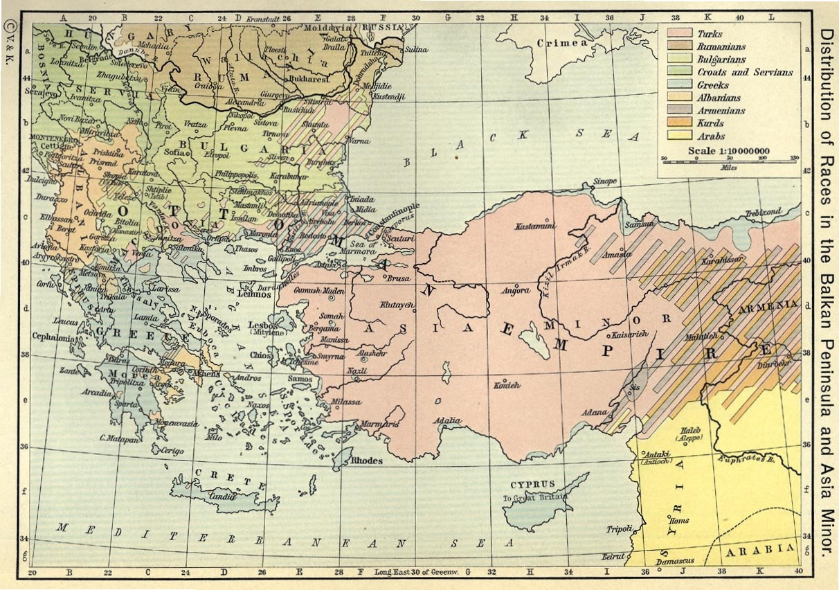 ottomanempire1911 Ethnic groups in Macedonia, the rest of Balkans and Asia Minor as of early 20th Century
