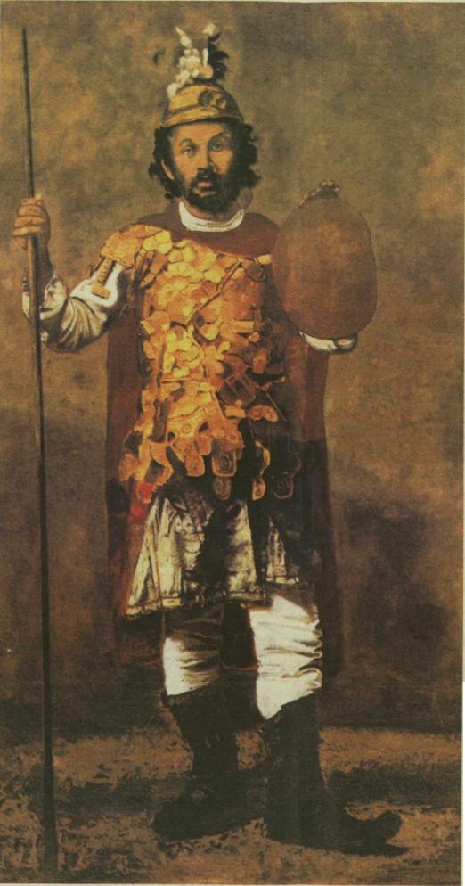 theofilos alexandros Ο Θεόφιλος μεταμφιεσμένος ως Μέγας Αλέξανδρος  του Γιάννη Τσαρούχη